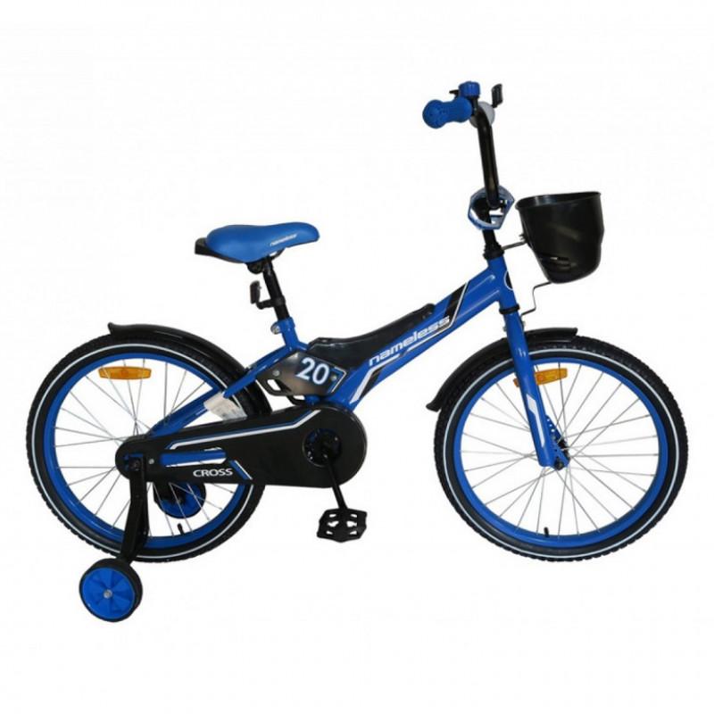 Велосипед 20 Nameless Cross, синий/чёрный