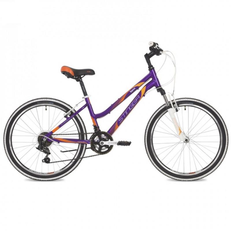 Велосипед 24 Stinger AHV.Laguna14VT9 фиолетовый