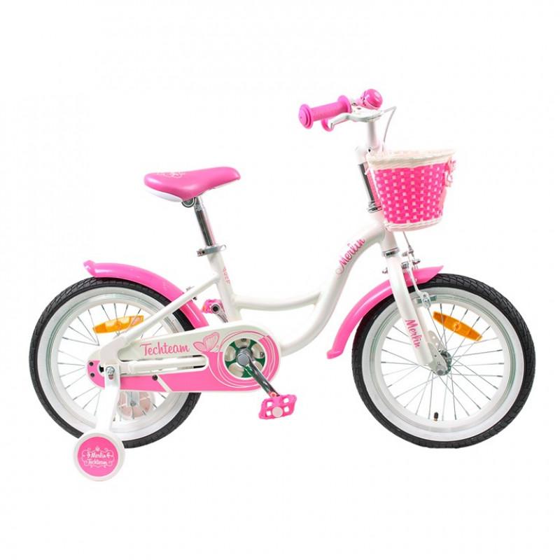 Велосипед 20 TT Merlin белый/розовый