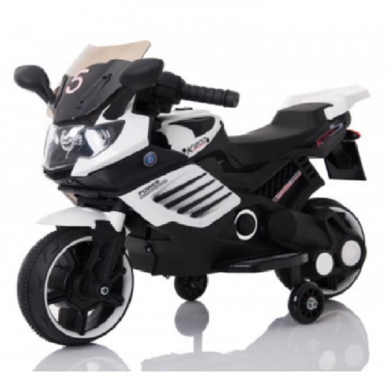 Детский электромотоцикл 46474 белый