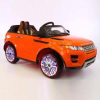 Электромобиль детский Range Rover 37421 оранжев VIP  12в р-у кож