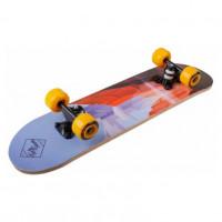 Скейтборд  ТТ  Profi 64*17см (12) Узоры, колеса оранжевые