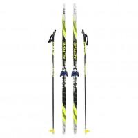 Лыжный комплект STC 75мм 195см (4)+палки+креп.