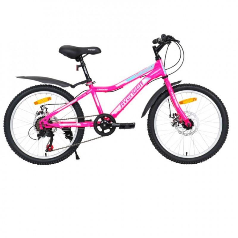 Велосипед 20 Avenger C200DW-PNN/WT-11(21) розовый неон/белый АКЦИЯ!!!