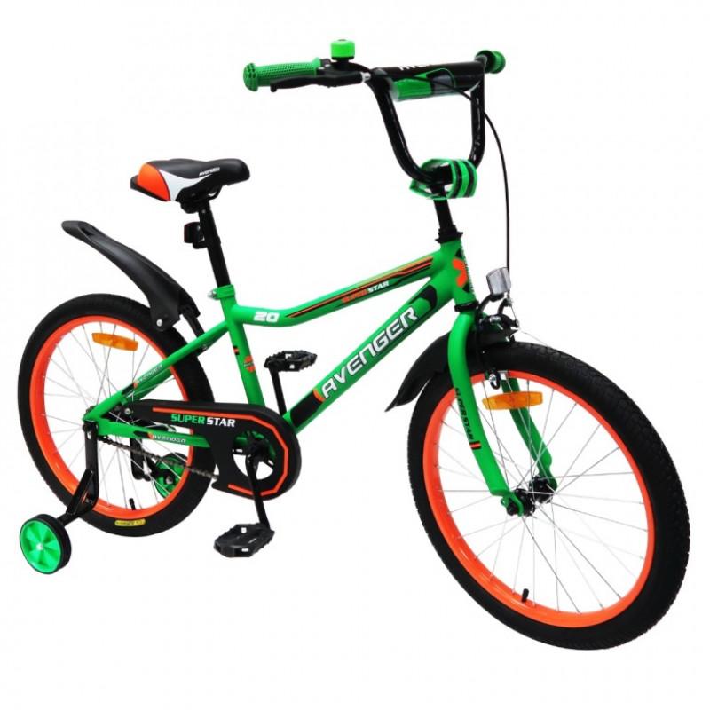 Велосипед 18  AVENGER SUPER STAR, зеленый/черный