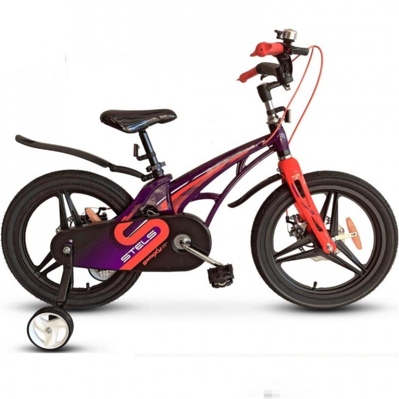 Велосипед 16  Stels  Galaxy Pro V010 фиолетовый/красный 2021