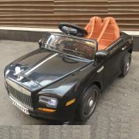 Электромобиль детский Rolls-Royce 39372 черный 12в р-у откр.дв