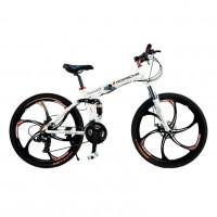 Велосипед на литых дисках П-Орше складной белый (P)