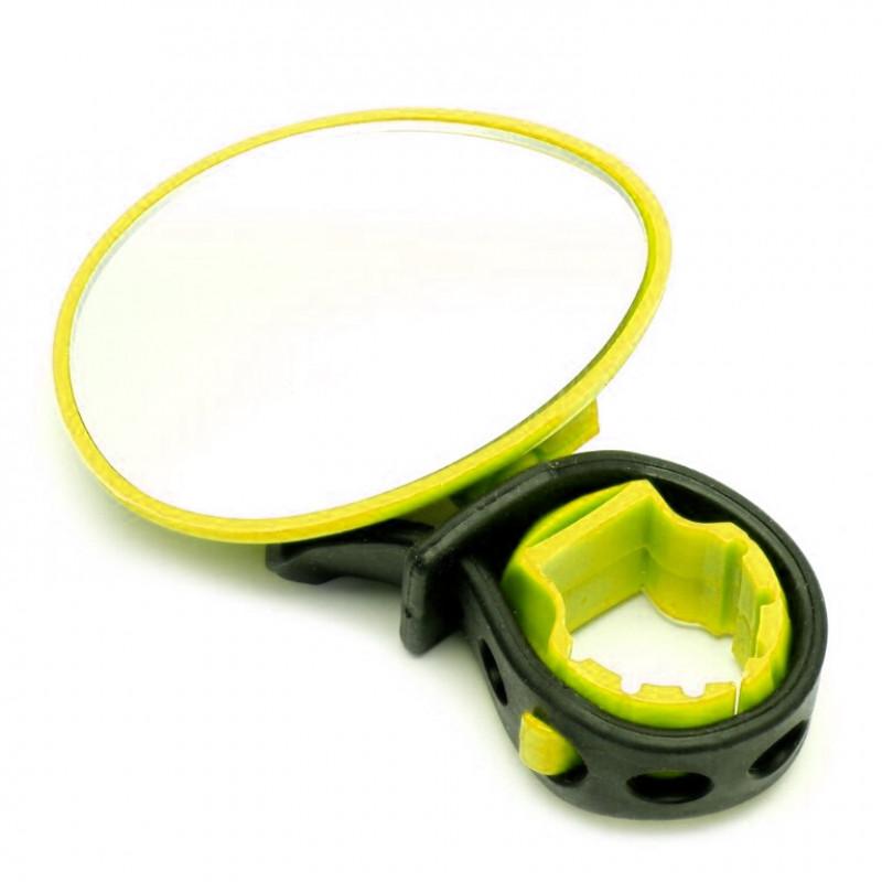 Зеркало  X95412 BC-BM101 жёлтое с силиконовым крепежом на руль, рег. угла