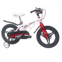 Велосипед 16 Bibitu PONY D бело-красный (МАГНИЕВЫЙ СПЛАВ-облегчённая рама)