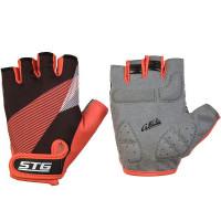 Перчатки STG  Х87912-Л летние с защитной прокладкой,застежка на липучке,размер Л,черн/красный
