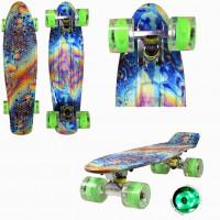 Скейтборд  Triumf  TLS-401G Firewave со светящ. колесами.  Розничная цена: 2490р