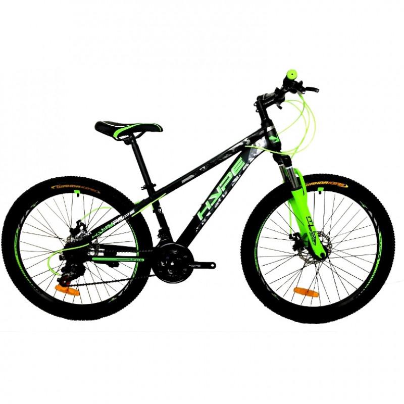 Велосипед 26 HYPE 26MD300-3 зелёный/чёрный матовый