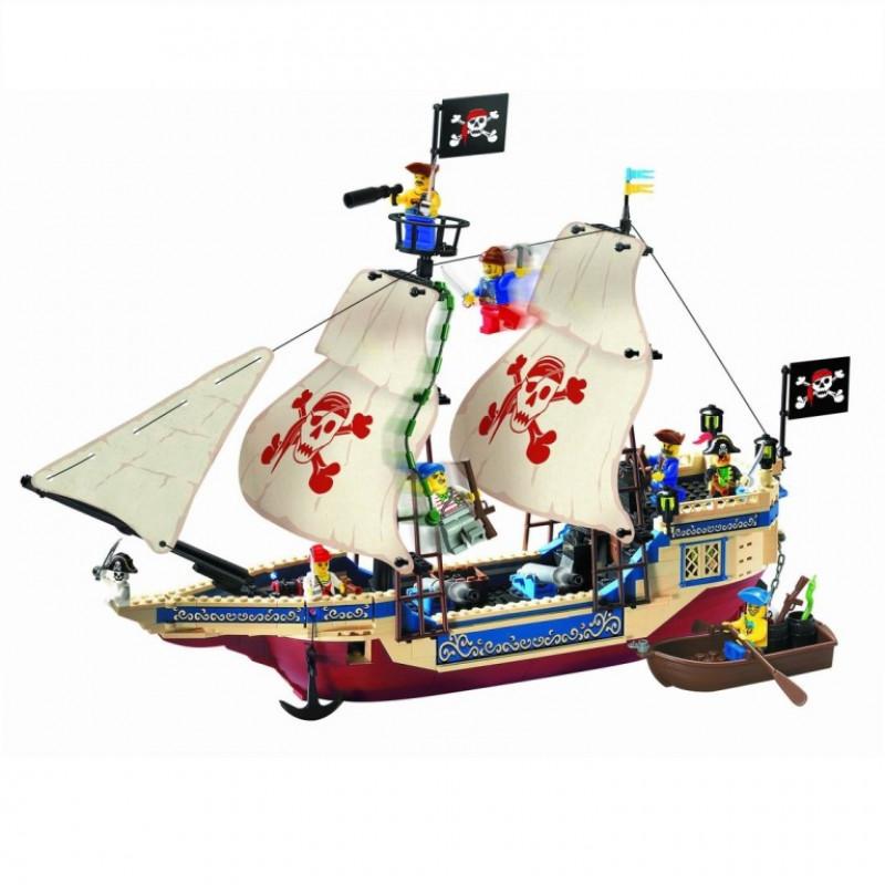 КОНСТРУКТОР  Ausini  311 Корабль с пиратами 487 деталей ,кор