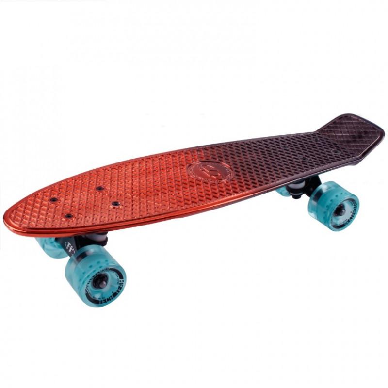 Скейтборд  ТТ Metallic 22 red 1/4
