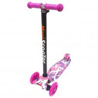 Самокат Scooter Maxi Print TJ-701P розовый Камуфляж 1/6