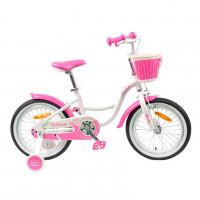 Велосипед 20 TT Merlin белый/розовый (АЛЮМИНИЙ-облегчённая рама)