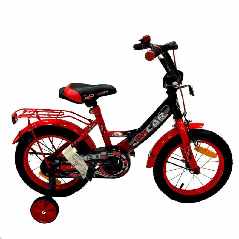Велосипед 14 OSCAR TURBO Black-Red (черный/красный) 2021 АКЦИЯ!!!