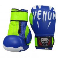 Перчатки для единоборства синтет син/зел