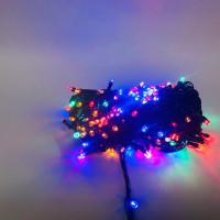 Гирлянда 400 ламп чёрная, цветной свет