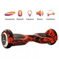 Гироскутер 6,5  Smart Balance Wheel 6.5 Красный огонь Музыка + Самобаланс с подсветой  Whell new