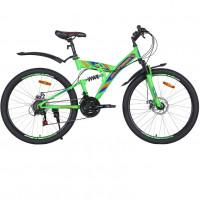 Велосипед 26 Avenger F260D , зелёный/синий неон  18