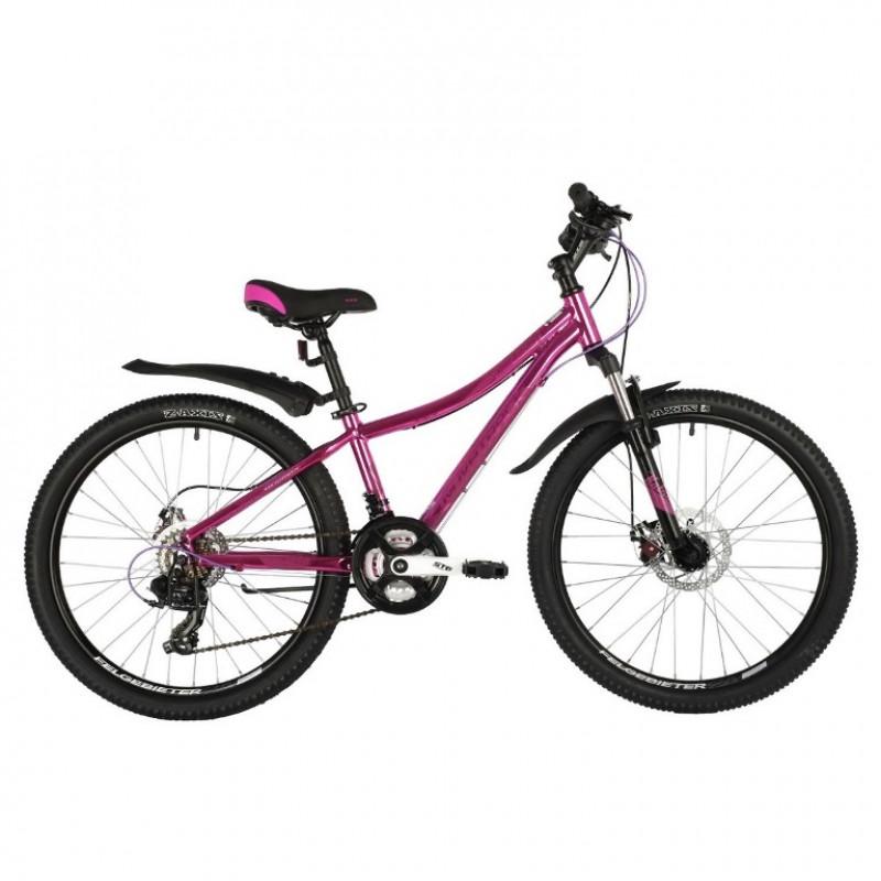 Велосипед 24 Novatrack AHD.KATRINA.10GPN20  розовый (металик)