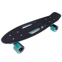 Скейтборд  ТТ  Shark 22  sea blue/black 1/4 TSL-405M пластик