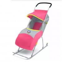 Санки коляска «Умка 2» розовый У2