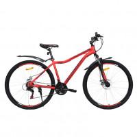 Велосипед 29 Avenger C295D-RD/BK-17.5(21) красный/чёрный