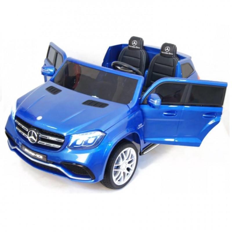 Электромобиль детский Mercedes-Benz GLS63 4WD 41597 синий глянц  24в р-у кож 131*70* (P)
