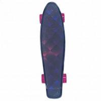 Скейтборд  Explore Ecoline GLAS/6 пластиковый Квадрат черно-розовые колесо розовые