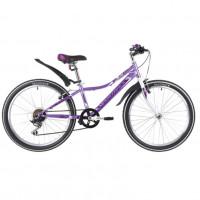 Велосипед 24 Novatrack SH6SV.Alice.12LC20  6-ск лиловый