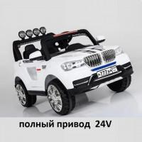 Электромобиль детский BMW 38381 24В полный привод белый (4*4)