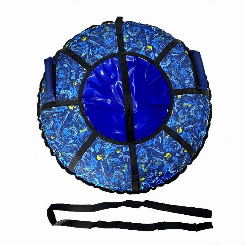 Тюбинг  CH- 85-ГЛАМУР-Динозавры цвет: синий в синем 2022