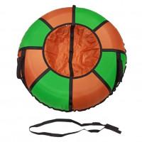 Тюбинг  CH- 90-ТО цвет N1 зелёный/оранжевый ,с замком new,цена с камерой д=90см 1/5