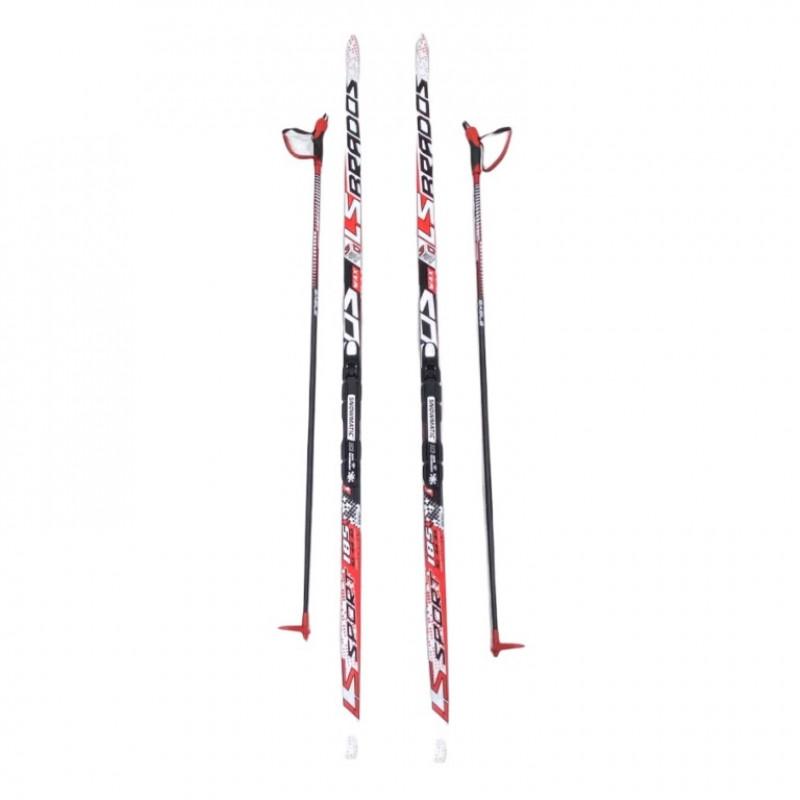 Лыжный комплект NNN креп STC 185см (4)+пал+кр степ