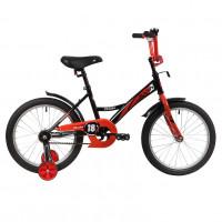 Велосипед 18 Novatrack Strike.BKR20  черный/красный