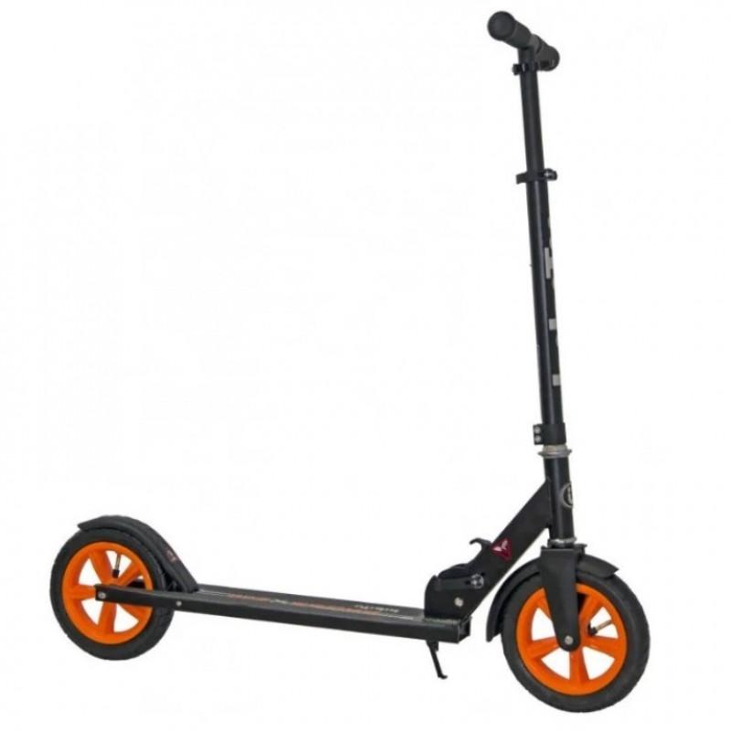 Самокат Bibitu CROSS SKL-037-AWS, чёрный/оранжевый, надувные колеса