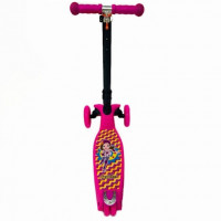 Самокат Scooter Maxi Print Music TJ-701M 4 цветов розовый барби 1/6