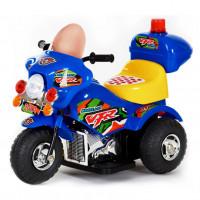 Электромотоцикл детский 33434 синий.  6v.4Ah  82*37*53