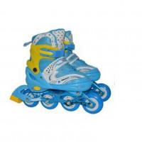Роликовые коньки Т59723  30-33 (S) 1/6 АЛ синий со свет.