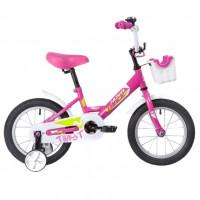 Велосипед 18 Novatrack Twist розовый, тормоз нож, крылья корот, полная защ.цепи, корзина