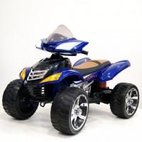 Электроквадроцикл детский 32613 (1) 12в, резин. колеса, кожанное сиденья, 2скор. 2мест, синий
