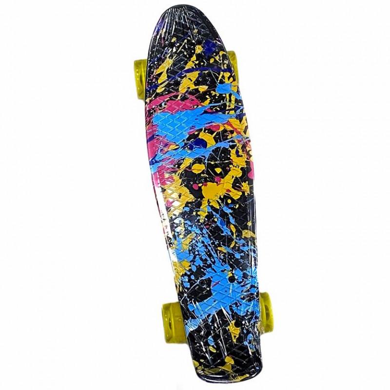 Скейтборд-пенниборд Explore Ecoline SURFER/6  Краски колеса желтые