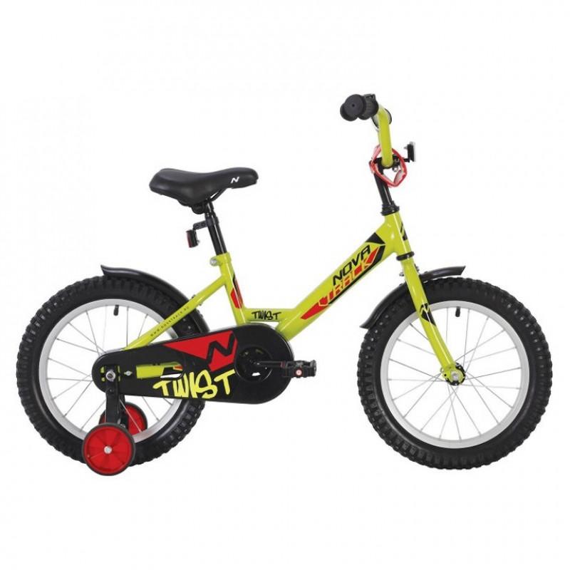 Велосипед 20 Novatrack Twist.GN20 зелёный нож/т