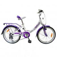 Велосипед 20 Novatrack AH6V Girlish WT9 бел-сирен