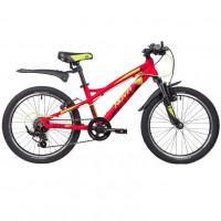 Велосипед 20 Novatrack AH7V.TORNADO.RD9 алюминевый красный 7-ск.