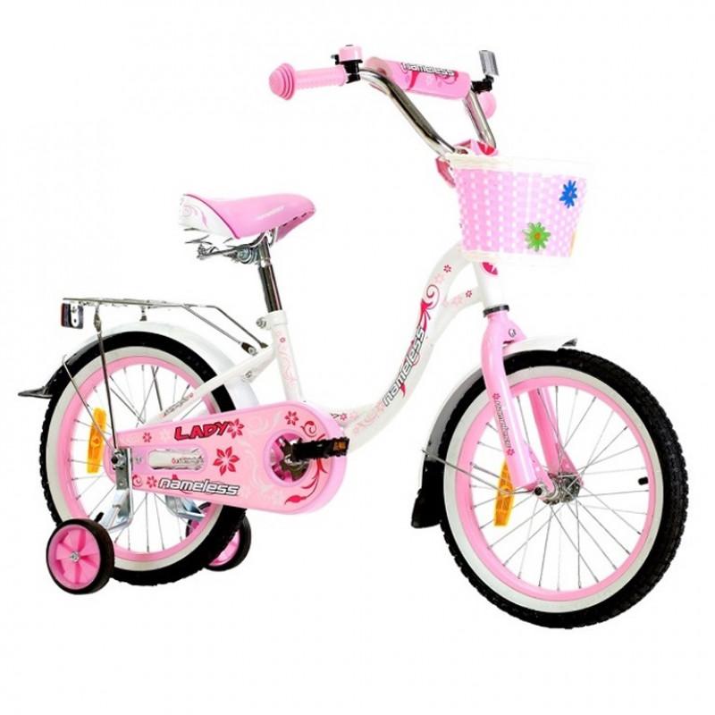 Велосипед 18 Nameless Lady, белый/розовый