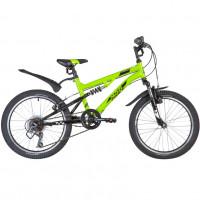 Велосипед 20 Novatrack SS6V.TITANIUM.GN20   6 ск.+ аморт салатовый